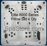Elite Spas 8000 Series Pillow 4 Qty Set Headrest Replacement