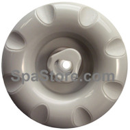"3-1/4"" Coleman Spas Rotational Jet Insert Gray 8 Scallop Face"