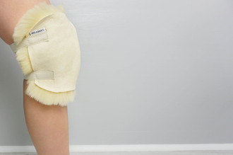 Genuine Natural Medical Sheepskin - Super Soft Wool - Antibacterial - KNEE PROTECTOR