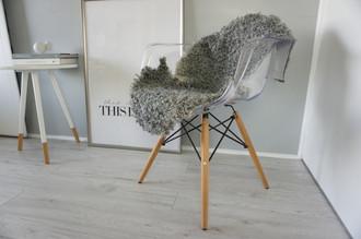 Genuine - Rare Breed Swedish Gotland Sheepskin Rug - Soft Curly Wool - Natural Grey | Silver | Ivory Mix - SG 131