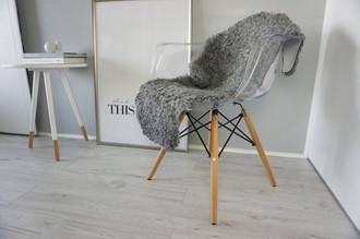 Genuine - Rare Breed Swedish Gotland Sheepskin Rug - Soft Curly Wool - Natural Grey | Ash | Silver | Latte Mix - SG 146