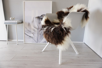 Genuine Natural Single Jacob Sheepskin Rug - Soft Thick Wool - SN 223