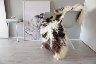 Genuine XXL Natural Single Jacob Sheepskin Rug - Soft Thick Wool - SN 226