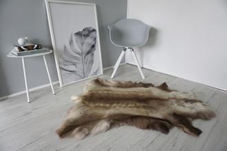 Genuine Super Soft - Extra Large Scandinavian Reindeer Skin Rug  eRE 4