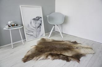 Genuine Super Soft - Extra Large Scandinavian Reindeer Skin Rug  eRE 22