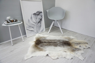 Genuine Super Soft - Extra Large Scandinavian Reindeer Skin Rug  RE 326