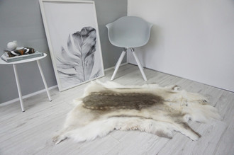Genuine Super Soft - Extra Large Scandinavian Reindeer Skin Rug  RE 327