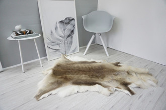Genuine Super Soft - Extra Large Scandinavian Reindeer Skin Rug  RE 328