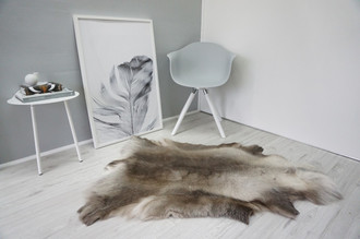 Genuine Super Soft - Extra Large Scandinavian Reindeer Skin Rug  RE 329