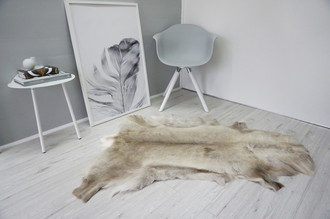 Genuine Super Soft - Extra Large Scandinavian Reindeer Skin Rug  RE 331