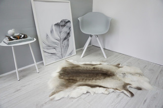 Genuine Super Soft - Extra Large Scandinavian Reindeer Skin Rug  RE 332