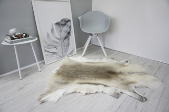 Genuine Super Soft - Extra Large Scandinavian Reindeer Skin Rug  RE 333