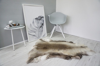 Genuine Super Soft - Extra Large Scandinavian Reindeer Skin Rug  RE 337
