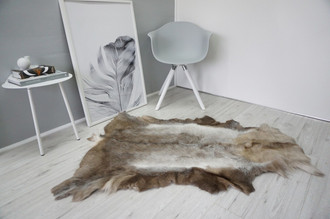 Genuine Super Soft - Extra Large Scandinavian Reindeer Skin Rug  RE 340