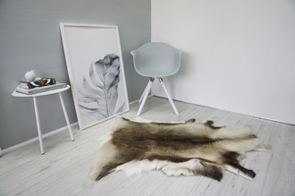 Genuine Super Soft - Extra Large Scandinavian Reindeer Skin Rug  RE 343