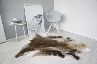 Genuine Super Soft - Extra Large Scandinavian Reindeer Skin Rug  RE 345