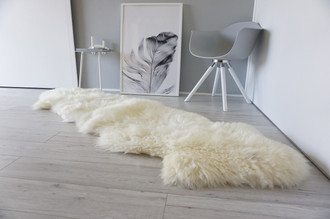 Genuine Double (2) sheepskin rug - Soft wool - Cream White | Ivory mix - DN 55
