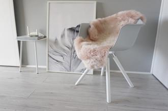 Genuine Australian Single Sheepskin Rug - Super Soft Silky Blush Pink Wool