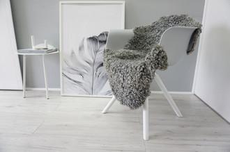 Genuine - Exclusive Swedish Gotland Sheepskin Rug - Soft Curly Wool - Natural Grey | Silver | Ash Mix - SG 163