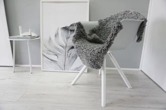 Genuine - Exclusive Swedish Gotland Sheepskin Rug - Soft Curly Wool - Natural Grey | Silver | Ash Mix - SG 165
