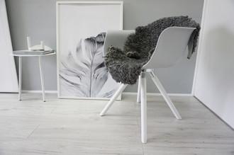 Genuine - Exclusive Swedish Gotland Sheepskin Rug - Soft Curly Wool - Natural Grey | Silver | Ash Mix - SG 166
