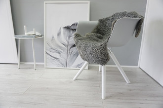 Genuine - Exclusive Swedish Gotland Sheepskin Rug - Soft Curly Wool - Natural Grey | Silver | Ash Mix - SG 167