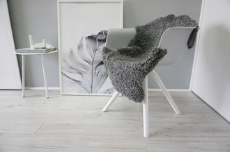 Genuine - Exclusive Swedish Gotland Sheepskin Rug - Soft Curly Wool - Natural Grey | Silver | Ash Mix - SG 169