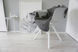 Genuine - Exclusive Swedish Gotland Sheepskin Rug - Soft Curly Wool - Natural Grey | Silver | Ash Mix - SG 170