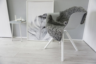 Genuine - Exclusive Swedish Gotland Sheepskin Rug - Soft Curly Wool - Natural Grey | Silver | Ash Mix - SG 171