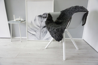 Genuine - Exclusive Swedish Gotland Sheepskin Rug - Soft Curly Wool - Natural Grey | Silver | Ash Mix - SG 174