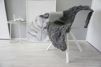 Genuine - Exclusive Swedish Gotland Sheepskin Rug - Soft Curly Wool - Natural Grey | Silver | Ash Mix - SG 176