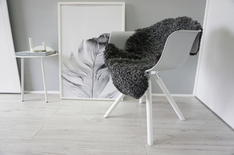 Genuine - Exclusive Swedish Gotland Sheepskin Rug - Soft Curly Wool - Natural Grey | Silver | Ash Mix - SG 179