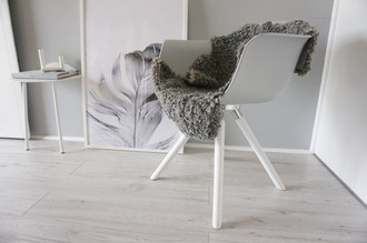Genuine - Exclusive Swedish Gotland Sheepskin Rug - Soft Curly Wool - Natural Grey | Silver | Ash Mix - SG 185