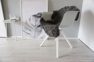 Genuine - Exclusive Swedish Gotland Sheepskin Rug - Soft Curly Wool - Natural Grey | Silver | Ash Mix - SG 191