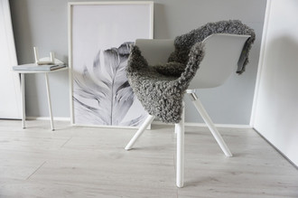 Genuine - Exclusive Swedish Gotland Sheepskin Rug - Soft Curly Wool - Natural Grey | Silver | Ash Mix - SG 192
