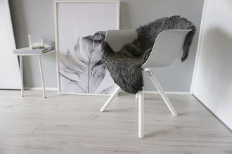 Genuine - Exclusive Swedish Gotland Sheepskin Rug - Soft Curly Wool - Natural Grey | Silver | Ash Mix - SG 193