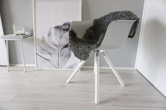 Genuine - Exclusive Swedish Gotland Sheepskin Rug - Soft Curly Wool - Natural Grey | Silver | Ash Mix - SG 196