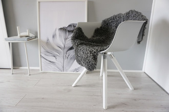 Genuine - Exclusive Swedish Gotland Sheepskin Rug - Soft Curly Wool - Natural Grey | Silver | Ash Mix - SG 197