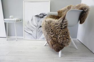 Genuine Natural Single Sheepskin Rug - Soft Thick Wool - Brown   Cream   Beige   Ash mix - SN 246