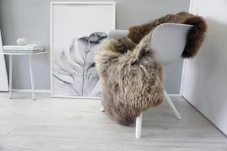 Genuine Natural Single Sheepskin Rug - Soft Thick Wool - Brown | Cream | Beige | Choco mix - SN 251