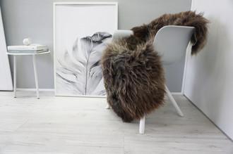 Genuine Natural Single Sheepskin Rug - Soft Thick Wool - Brown   Choco   Grey   Ash mix - SN 272