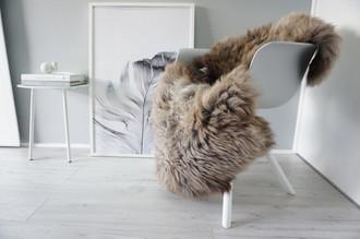 Genuine Natural Single Sheepskin Rug - Soft Thick Wool - Brown | Latte | Ash | Grey mix - SN 279