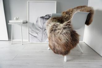 Genuine Natural Single Sheepskin Rug - Soft Thick Wool - Brown | Latte | Ash | Grey mix - SN 288