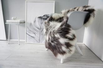 Genuine Natural Single Sheepskin Rug - Soft Thick Wool - Brown | Grey | White Mix - SN 304
