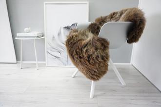 Genuine Natural Single Herdwick Sheepskin Rug - Soft Thick Wool - Brown | Choco | Cream White mix - SN 311