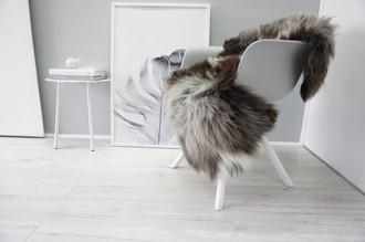 Genuine Natural Single Sheepskin Rug - Soft Thick Wool - Brown | Grey | White | Black Mix - SN 312