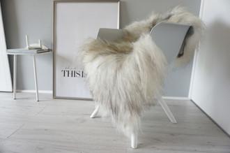 Genuine Icelandic Sheepskin Rug - Cream white | Latte | Silver Mix - Super Soft Touch Long Wool - SI 361