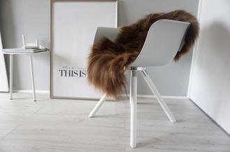 Genuine Icelandic Sheepskin Rug - Rusty brown Mix - Super Soft Touch Long Wool - SI 369