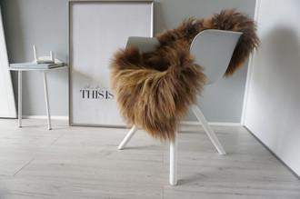 Genuine Icelandic Sheepskin Rug - Rusty brown Mix - Super Soft Touch Long Wool - SI 372