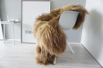 Genuine Icelandic Sheepskin Rug - Rusty brown Mix - Super Soft Touch Long Wool - SI 373